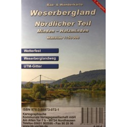Radwanderkarte Weserbergland Nördlicher Teil