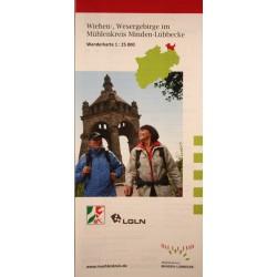 Wanderkarte Wiehen-, Wesergebirge im Mühlenkreis Minden-Lübbecke