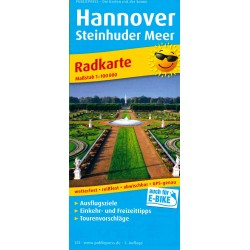 Radwanderkarte Hannover - Steinhuder Meer
